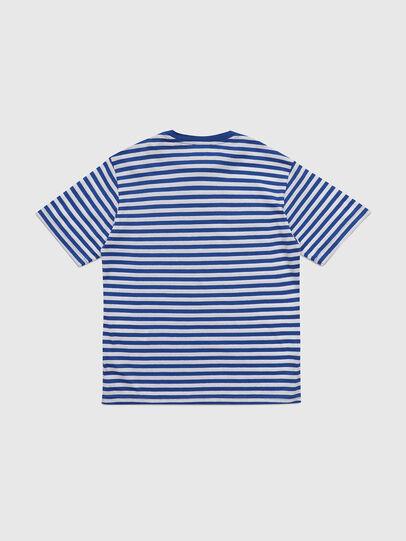 Diesel - TVIKTOR OVER, Blu/Bianco - T-shirts e Tops - Image 2