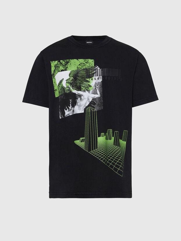 T-JUBIND-SLITS, Nero - T-Shirts