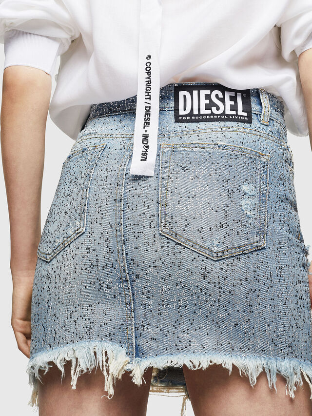 Diesel - DE-ELLE-S, Blu Jeans - Gonne - Image 2