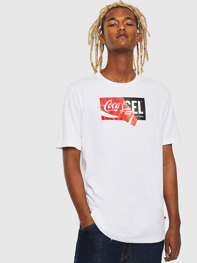 Diesel - CC-T-JUST-COLA, Bianco - T-Shirts - Image 1