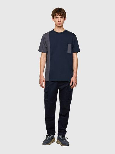 Diesel - T-RISEN-B1, Blu Scuro - T-Shirts - Image 4