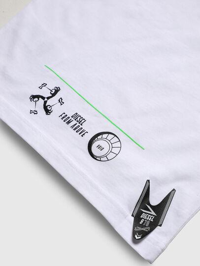 Diesel - TJUSTLS-NEW, Bianco - T-shirts e Tops - Image 5