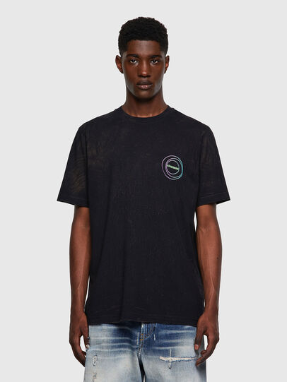 Diesel - T-JUST-E3, Nero - T-Shirts - Image 1