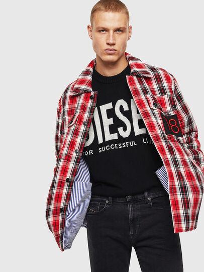 Diesel - S-JOHNS, Rosso/Nero - Camicie - Image 6