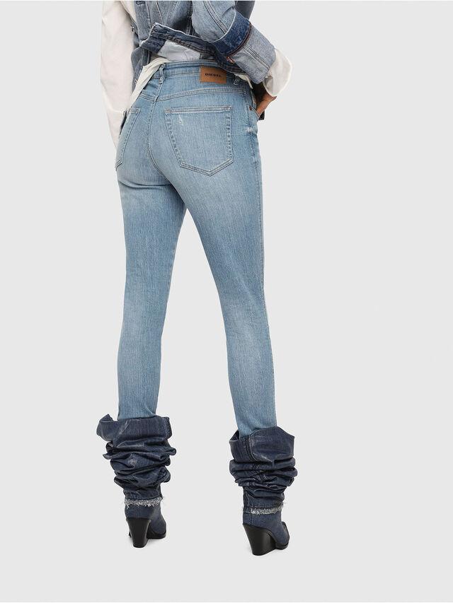 Diesel - Babhila High 081AF, Blu Chiaro - Jeans - Image 2