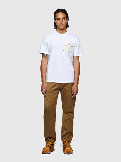Diesel - T-JUSMER, Bianco - T-Shirts - Image 4
