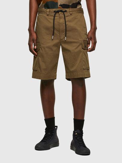 Diesel - P-APE, Verde Militare - Shorts - Image 1