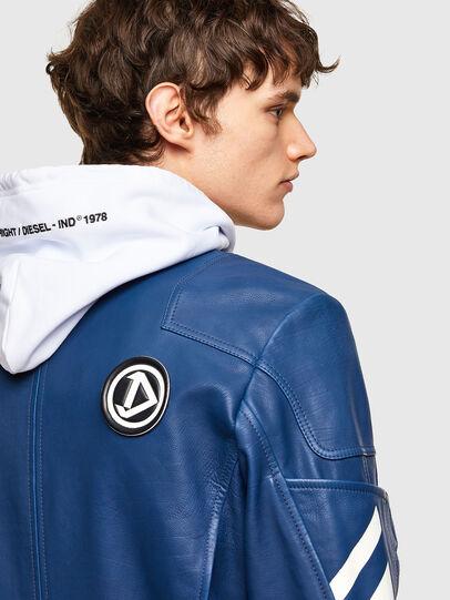 Diesel - L-FULK, Blu - Giacche di pelle - Image 5