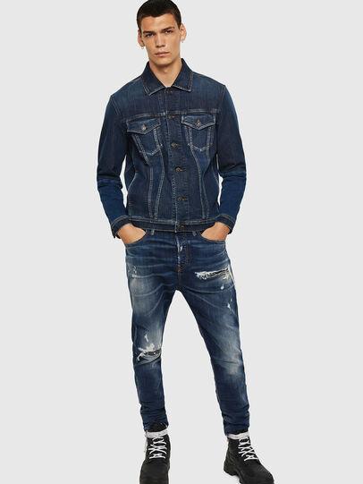 Diesel - D-Vider 0090G, Blu Scuro - Jeans - Image 6