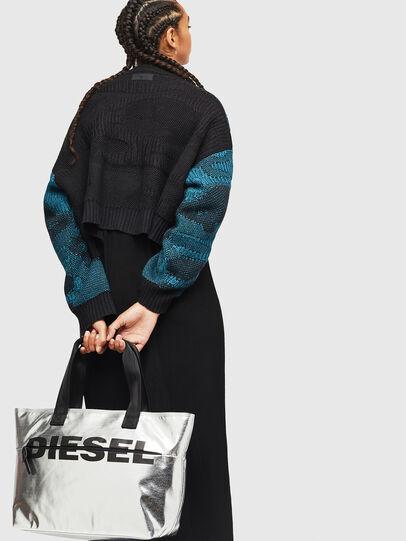 Diesel - F-BOLD SHOPPER II, Argento - Shopper e Borse a Spalla - Image 6