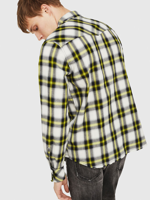 Diesel - S-EAST-LONG-G, Bianco/Nero - Camicie - Image 2