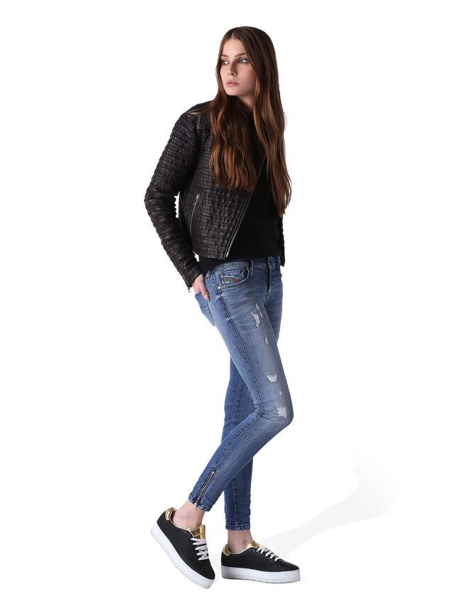 Diesel - Skinzee Low Zip 0847U, Blu medio - Jeans - Image 5