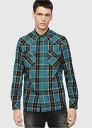 S-EAST-LONG-E, Blu/Verde - Camicie