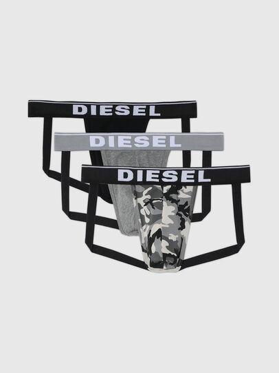 Diesel - UMBR-JOCKYTHREEPACK, Grigio/Nero - Jockstrap - Image 1