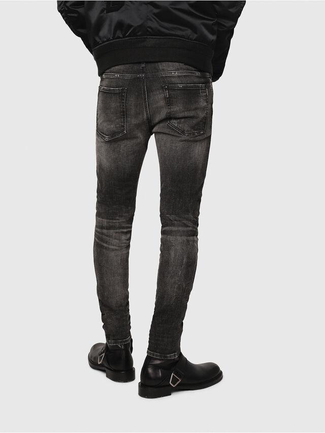 Diesel - D-Reeft JoggJeans 0077S, Nero/Grigio scuro - Jeans - Image 2