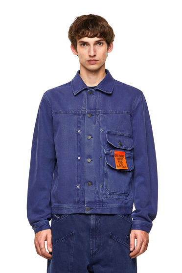 Giacca in denim overdyed