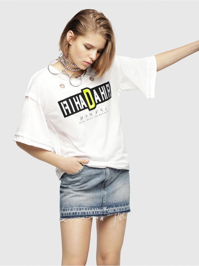Diesel - T-JACKY-C, Bianco - T-Shirts - Image 1