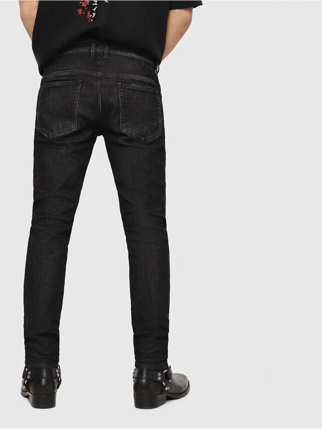 Diesel - Thommer JoggJeans 0077U, Nero/Grigio scuro - Jeans - Image 2