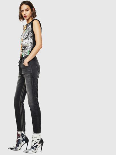Diesel - Krailey JoggJeans 0094Q, Nero/Grigio scuro - Jeans - Image 5