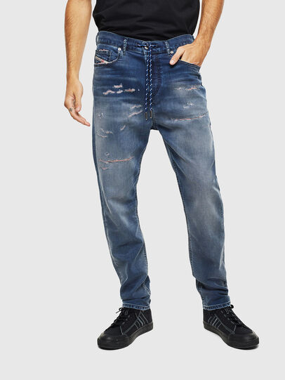 Diesel - D-Vider JoggJeans 069LW, Blu Scuro - Jeans - Image 3