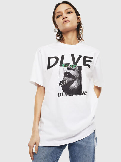 Diesel - T-JUST-T21, Bianco - T-Shirts - Image 2