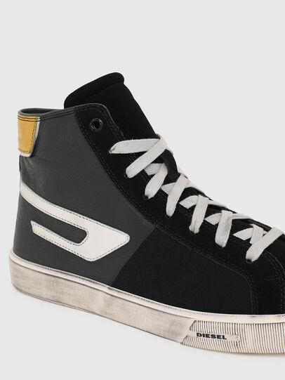 Diesel - S-MYDORI ML, Nero/Giallo - Sneakers - Image 4