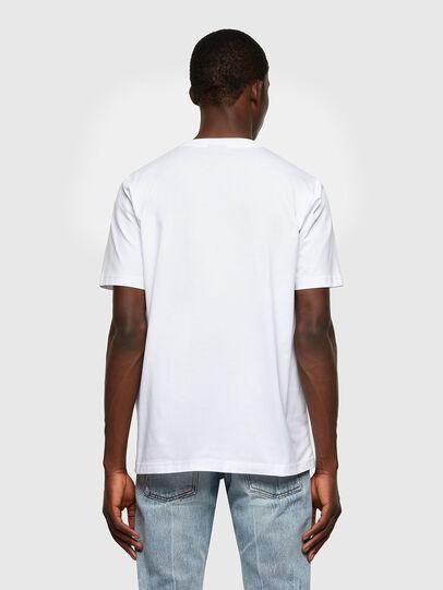 Diesel - T-JUST-LAB, Bianco - T-Shirts - Image 2