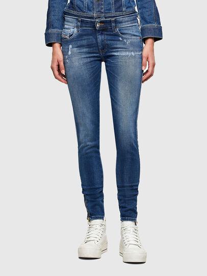Diesel - Slandy Low 009PU, Blu medio - Jeans - Image 1