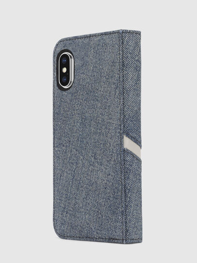 Diesel - DENIM IPHONE X FOLIO, Blu Jeans - Cover a libro - Image 5