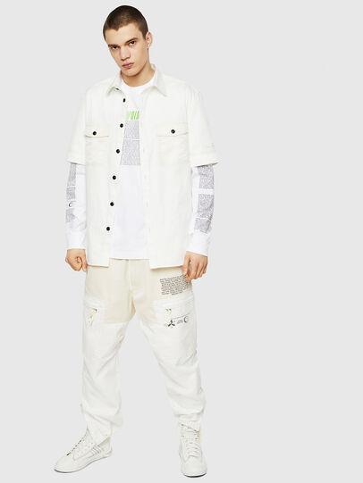 Diesel - T-JUST-LS-NEW, Bianco - T-Shirts - Image 5