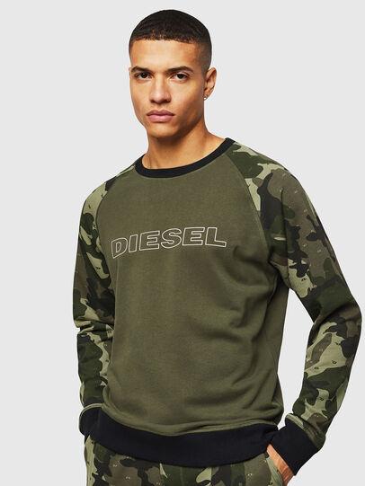 Diesel - UMLT-MAX, Verde Camo - Felpe - Image 1