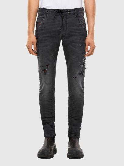 Diesel - Krooley JoggJeans 069RA, Nero/Grigio scuro - Jeans - Image 1