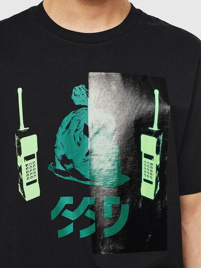 Diesel - T-JUST-T30, Nero - T-Shirts - Image 3