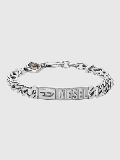Diesel - DX1225, Argento - Braccialetti - Image 1