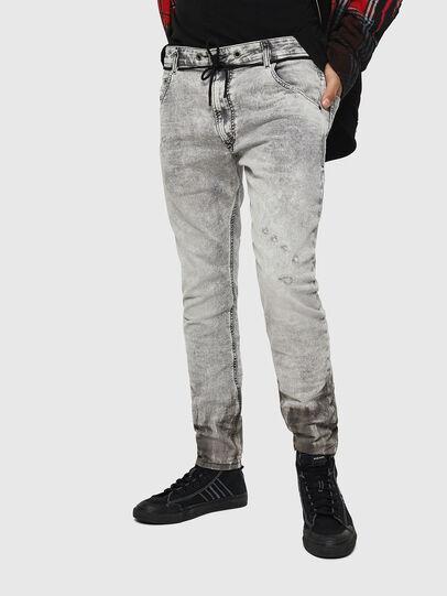 Diesel - Krooley JoggJeans 0091H, Grigio Chiaro - Jeans - Image 1