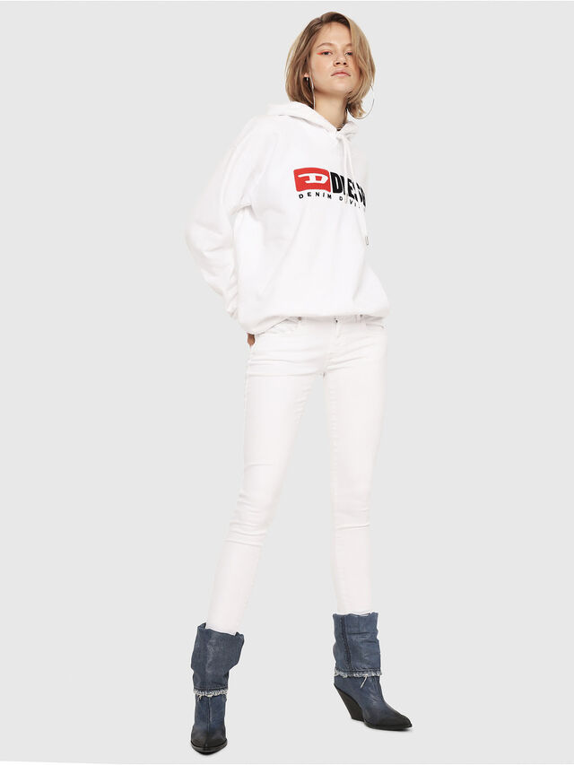 Diesel - Slandy Low 086AC, Bianco - Jeans - Image 4