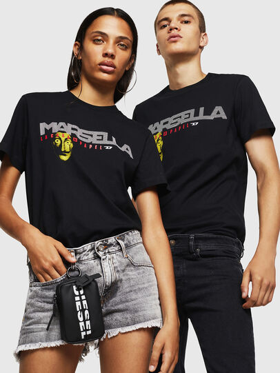 Diesel - LCP-T-DIEGO-MARSELLA, Nero - T-Shirts - Image 6