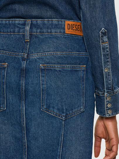 Diesel - DE-PENCIL-ZIP, Blu medio - Gonne - Image 4