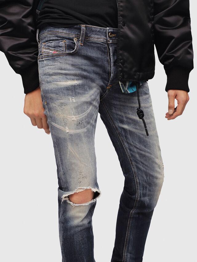 Diesel - Sleenker 069DJ, Blu Scuro - Jeans - Image 3
