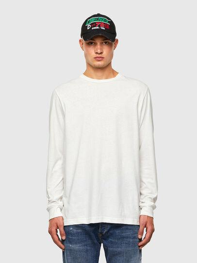 Diesel - T-JUST-LS-MOHI, Bianco - T-Shirts - Image 4