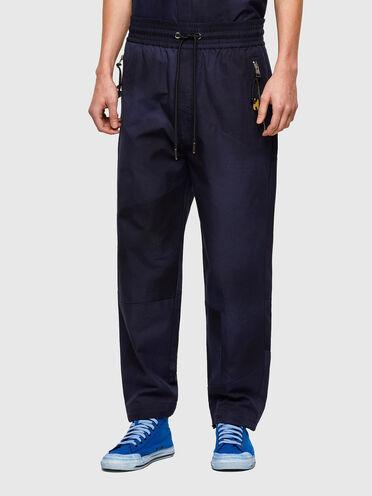 Pantaloni tie-dye in tela di cotone