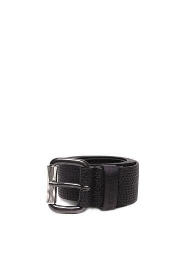 Cintura in morbida pelle nera