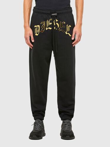 Pantaloni con stampa metallizzata