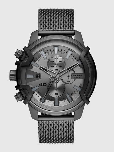 Cronografo Griffed in acciaio inossidabile grigio piombo