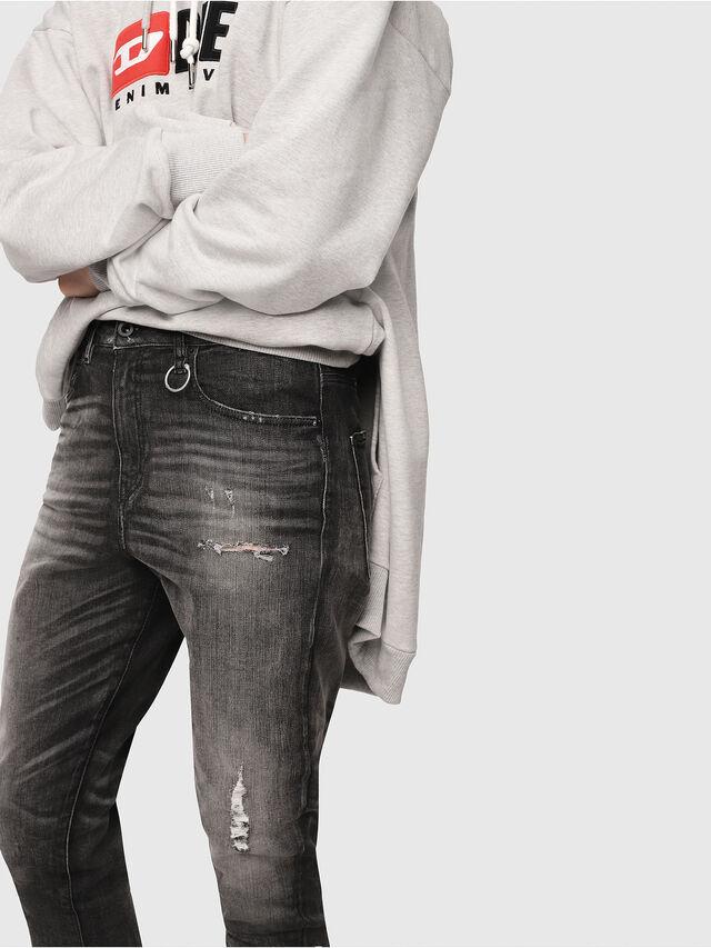 Diesel - Candys JoggJeans 0077S, Nero/Grigio scuro - Jeans - Image 4