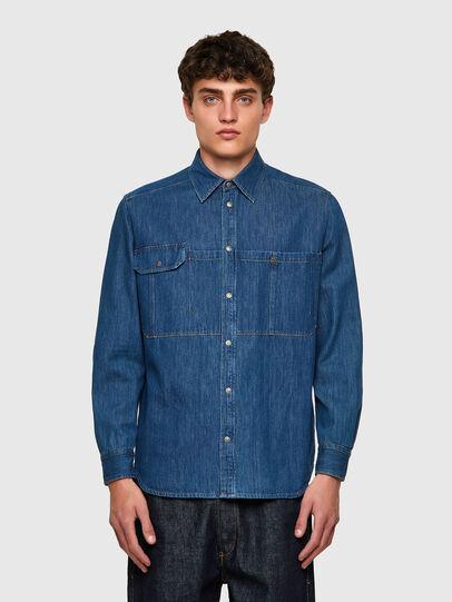 Diesel - D-MILLY-SP, Blu medio - Camicie in Denim - Image 1