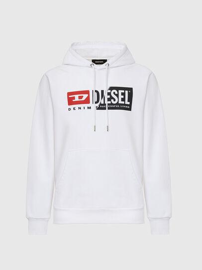 Diesel - S-GIRK-HOOD-CUTY, Bianco - Felpe - Image 1