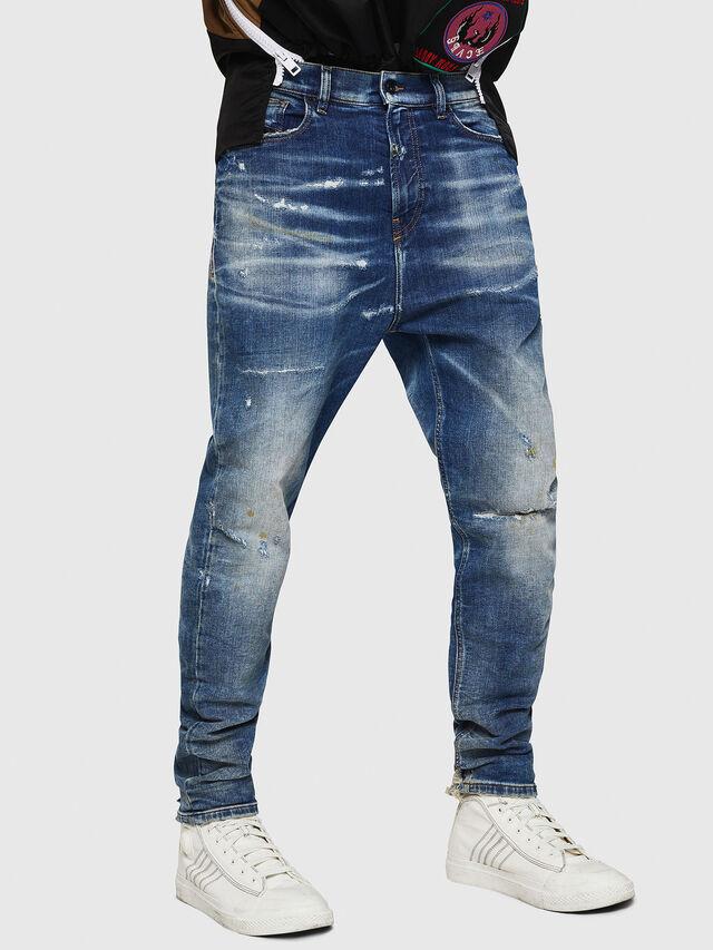 Diesel - D-Vider JoggJeans 0870Q, Blu medio - Jeans - Image 1