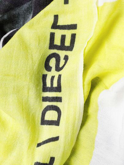 Diesel - SRIGHT, Bianco/Giallo - Sciarpe - Image 3