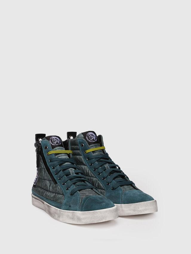 Diesel - D-VELOWS MID PATCH, Verde Acqua - Sneakers - Image 3